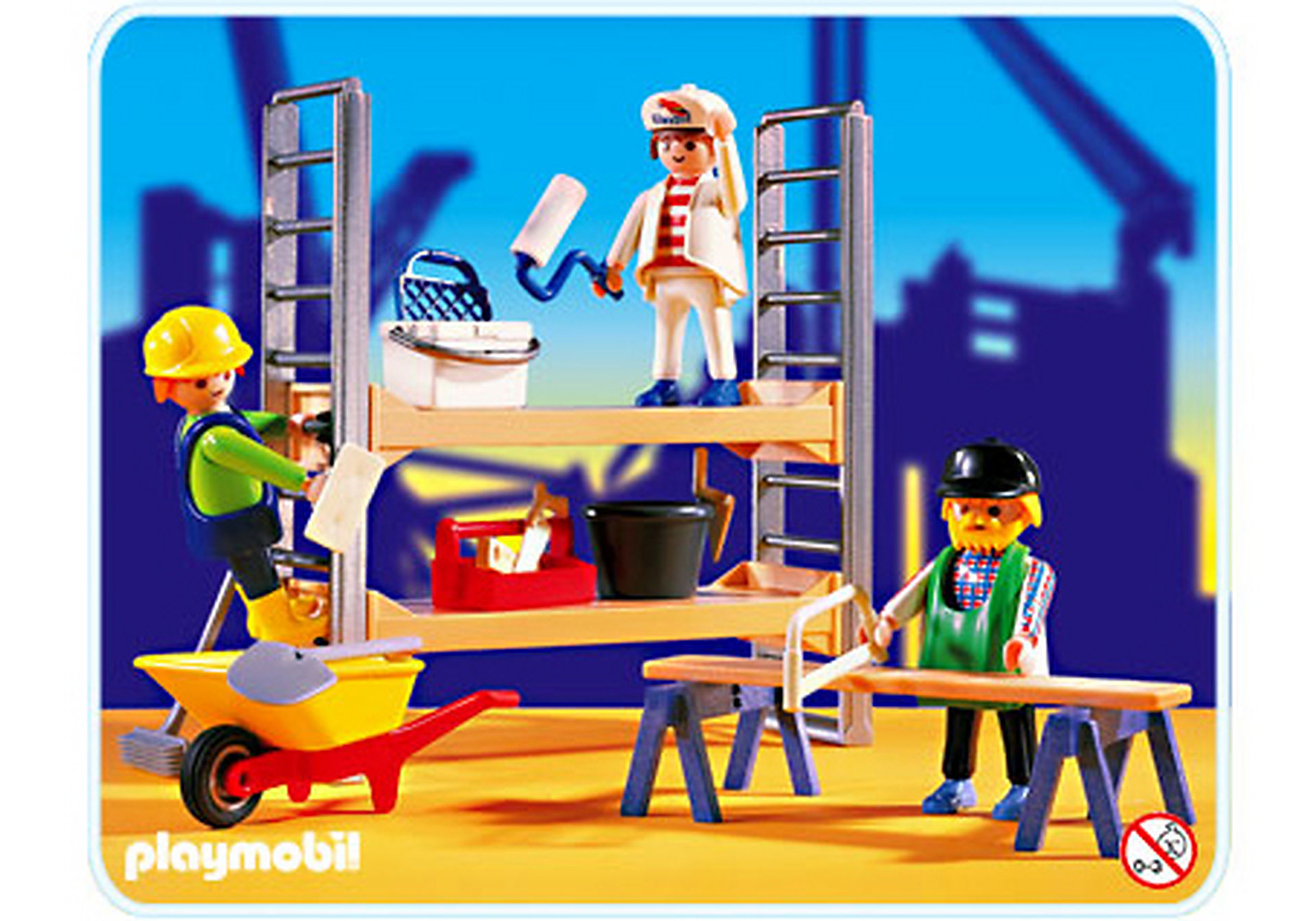 3833-A Ouvriers de chantier/ échafaudage zoom image1
