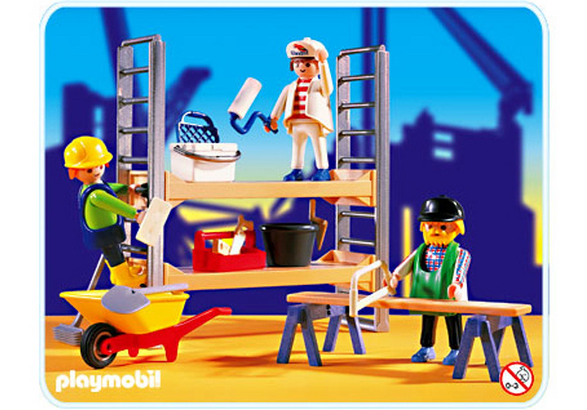 ouvriers de chantier chafaudage 3833 a playmobil france. Black Bedroom Furniture Sets. Home Design Ideas