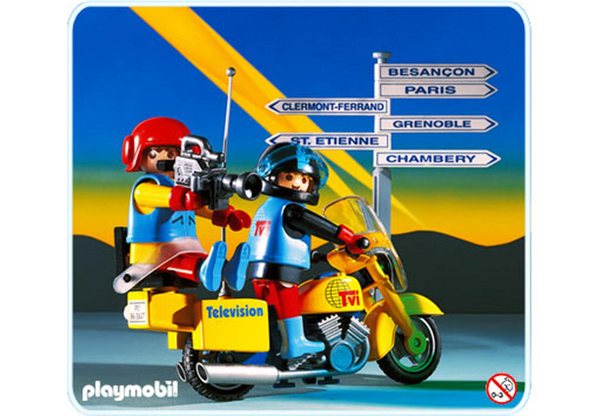 Reporters tv moto 3847 a playmobil france - Moto playmobile ...
