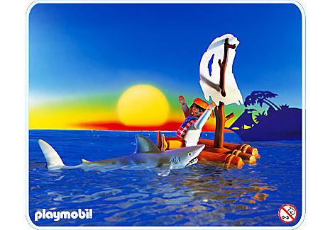 3862-A Schiffbrüchiger mit Hai detail image 1