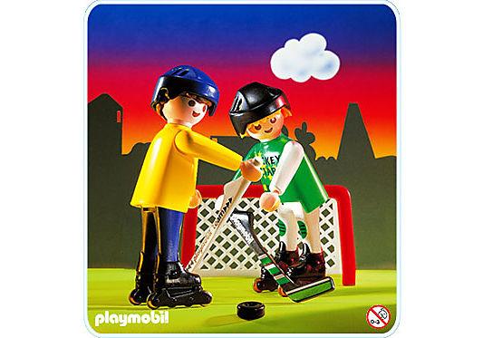 3869-A Hockeyeurs / rollers detail image 1