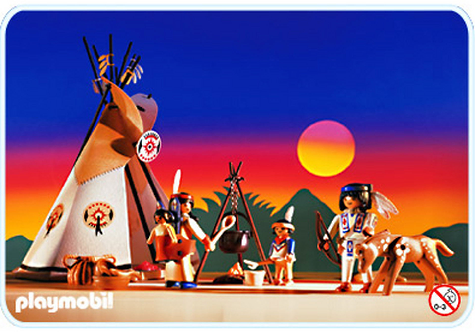 3871-A Famille indienne / tipi zoom image1