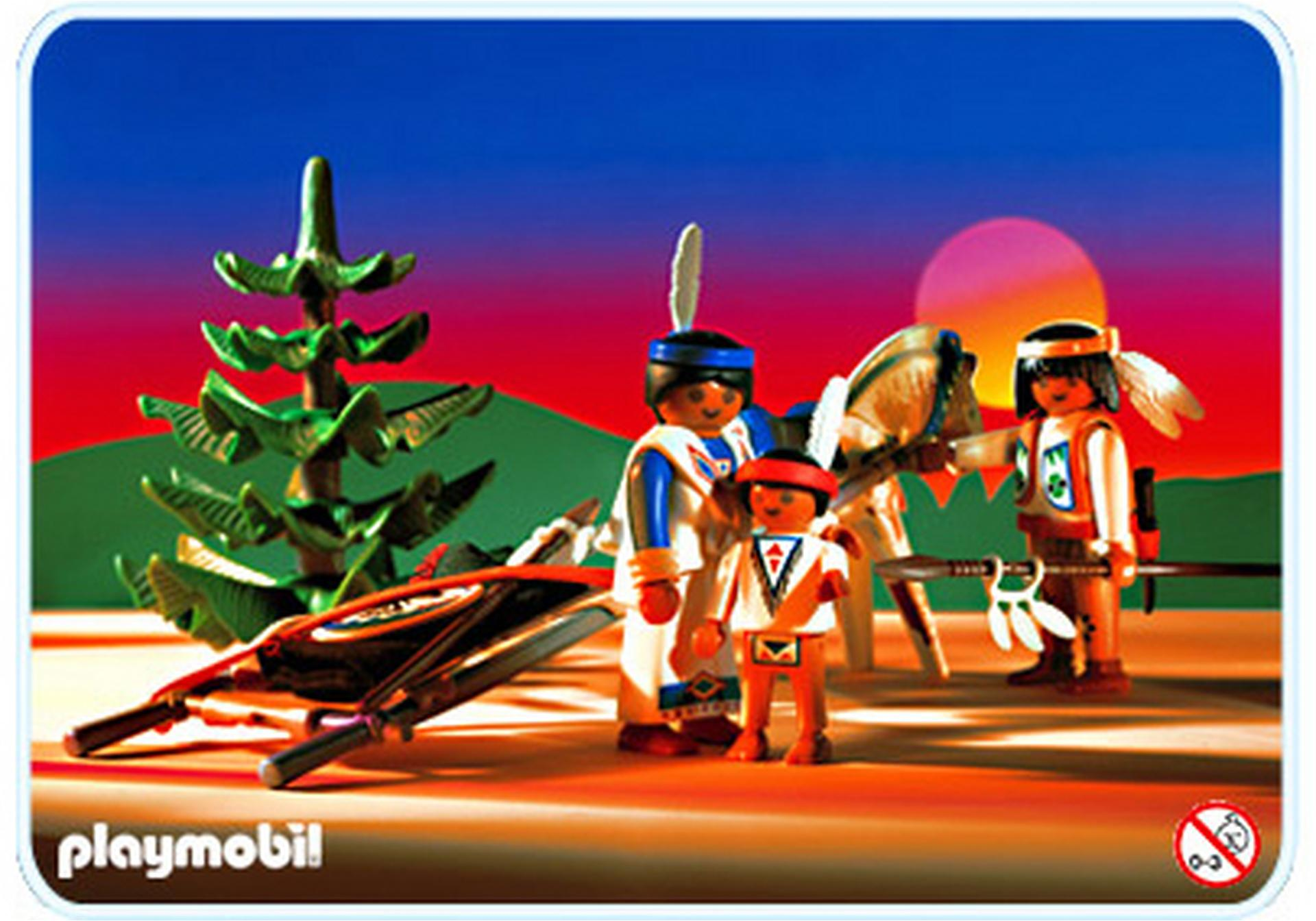 Famille indienne tra neau 3872 a playmobil france for Playmobil buanderie