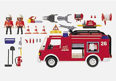 Pompiers Camion Lance A Eau 3880 A Playmobil France