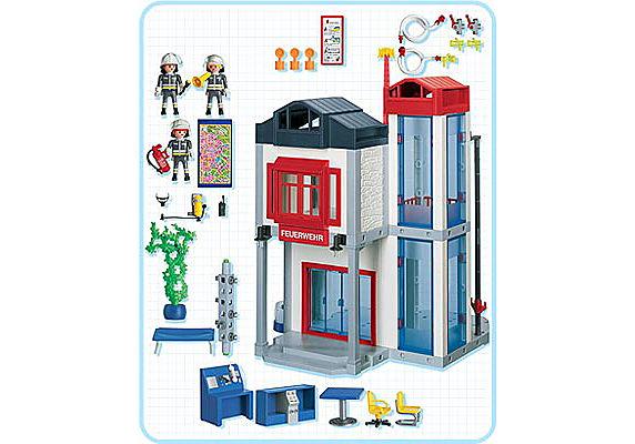 3885-A Caserne de pompiers avec tour d`exercice detail image 2