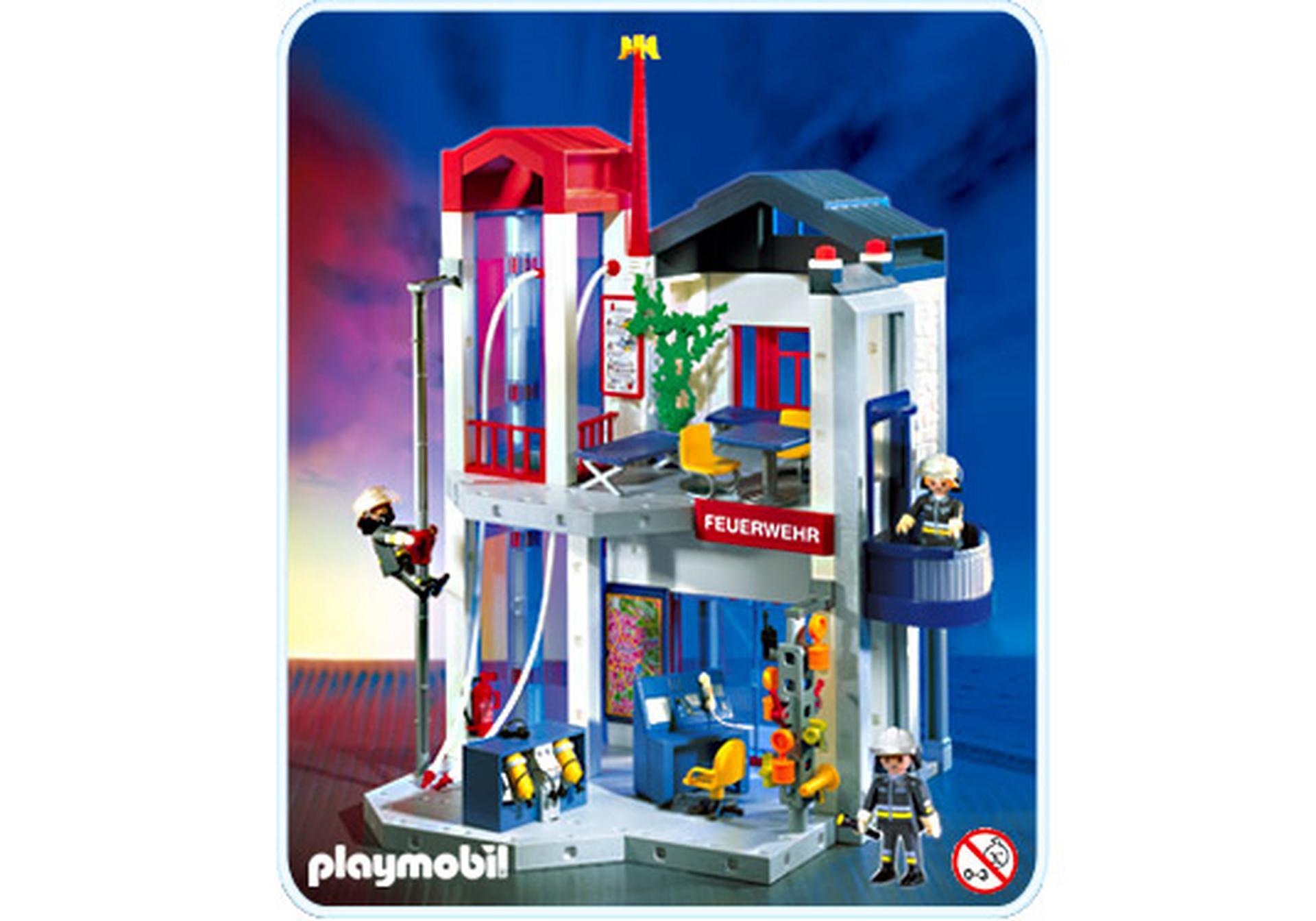 Feuerwehr station mit schlauchturm 3885 a playmobil - Playmobil de pompier ...