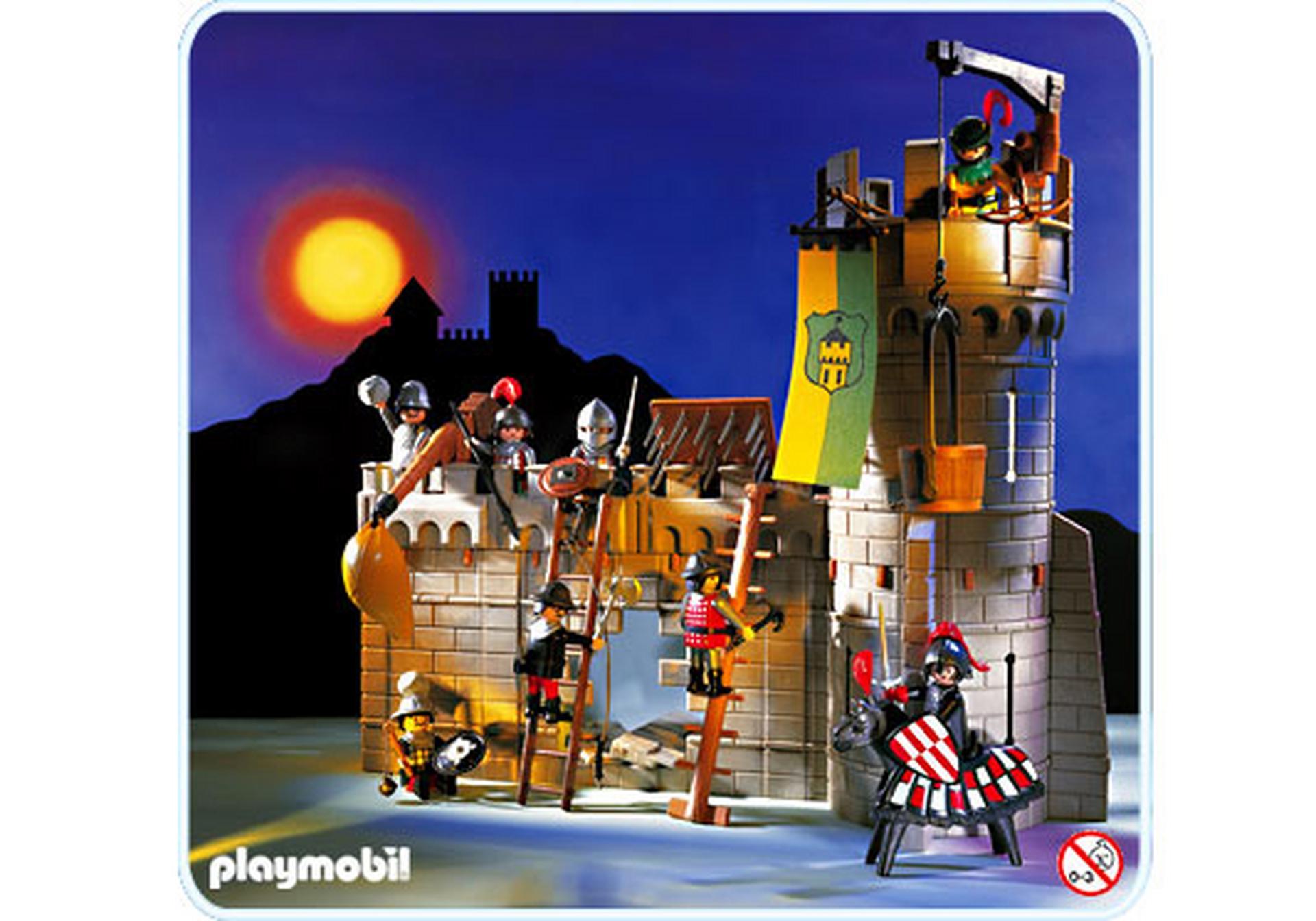 Chevaliers tour d enceinte assi g e 3888 a playmobil - Chateau chevalier playmobil ...