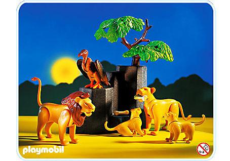 3895-A Famille de lions detail image 1