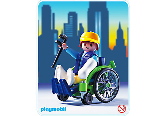 3928-A Patient mit Rollstuhl detail image 1