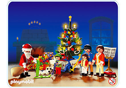 3931-A Famille / sapin de Noël detail image 1