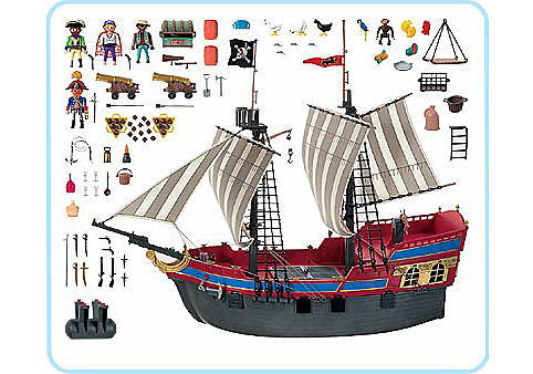 3940-A Grand bateau Pirates detail image 2
