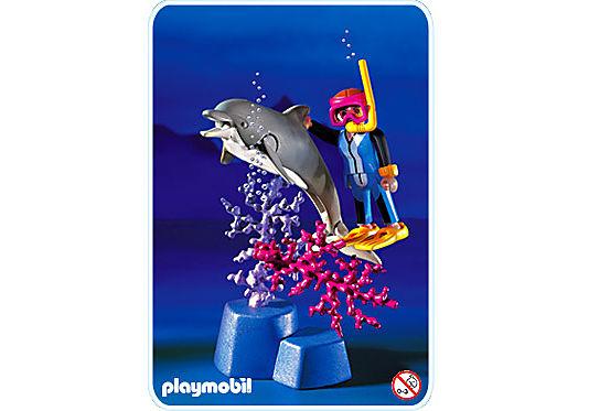 3948-A Plongeur / dauphin detail image 1