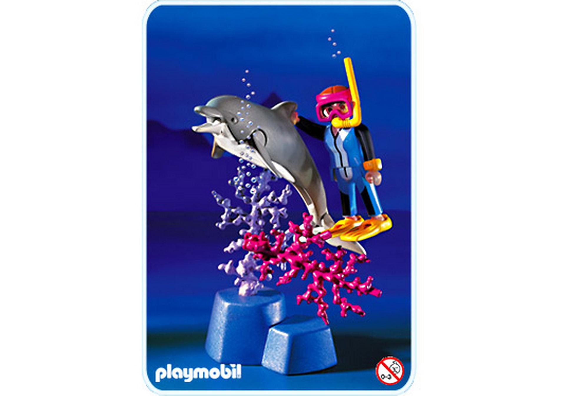3948-A Plongeur / dauphin zoom image1