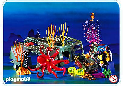 3951-A Plongeur / pieuvre / épave detail image 1