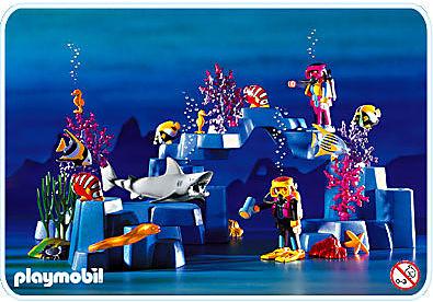 3953-A Plongeurs / lagon detail image 1