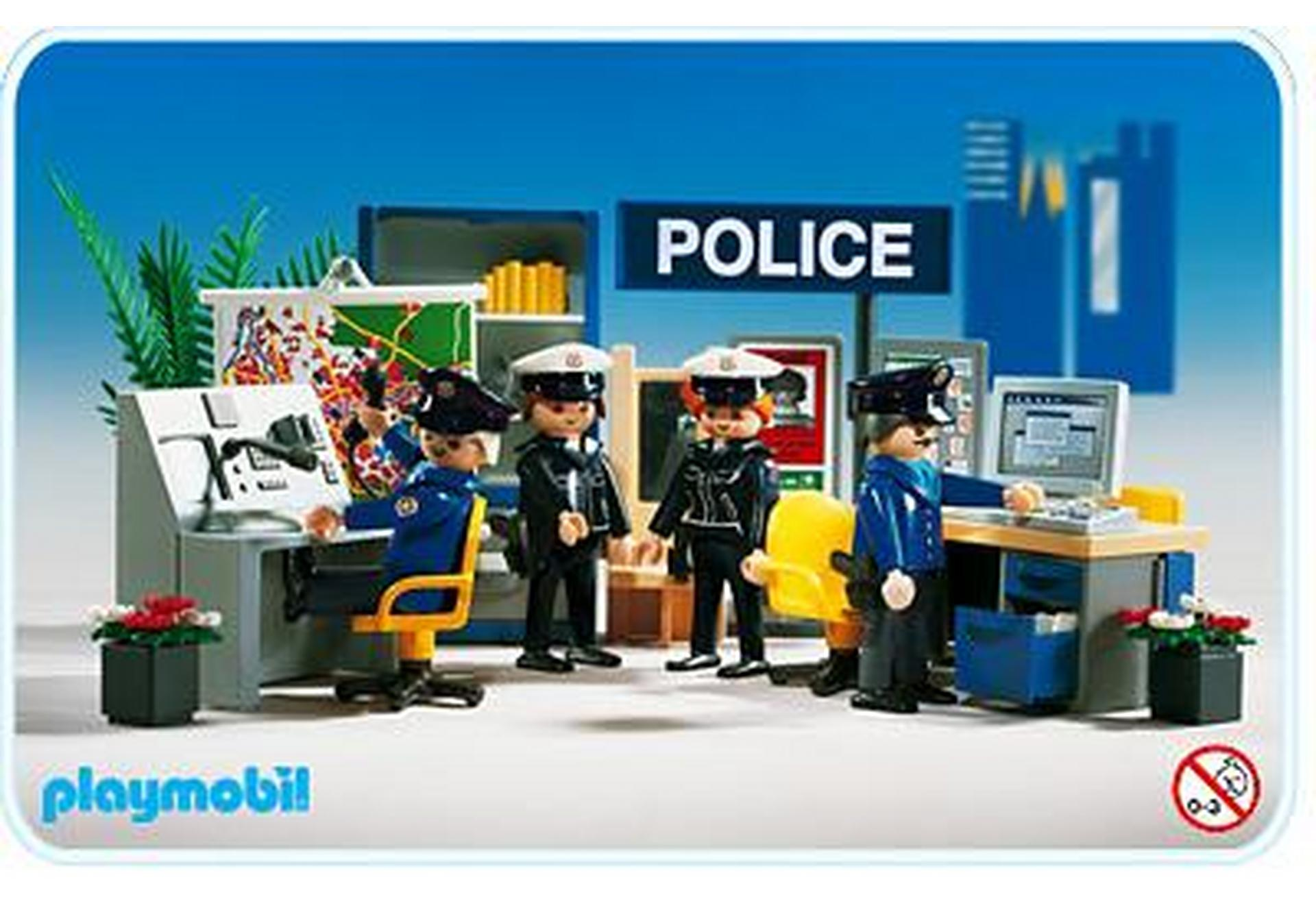 poste de police brigade 3957 a playmobil france. Black Bedroom Furniture Sets. Home Design Ideas