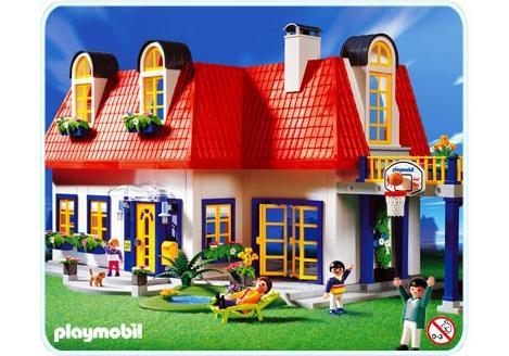 plan maison contemporaine playmobil 3965