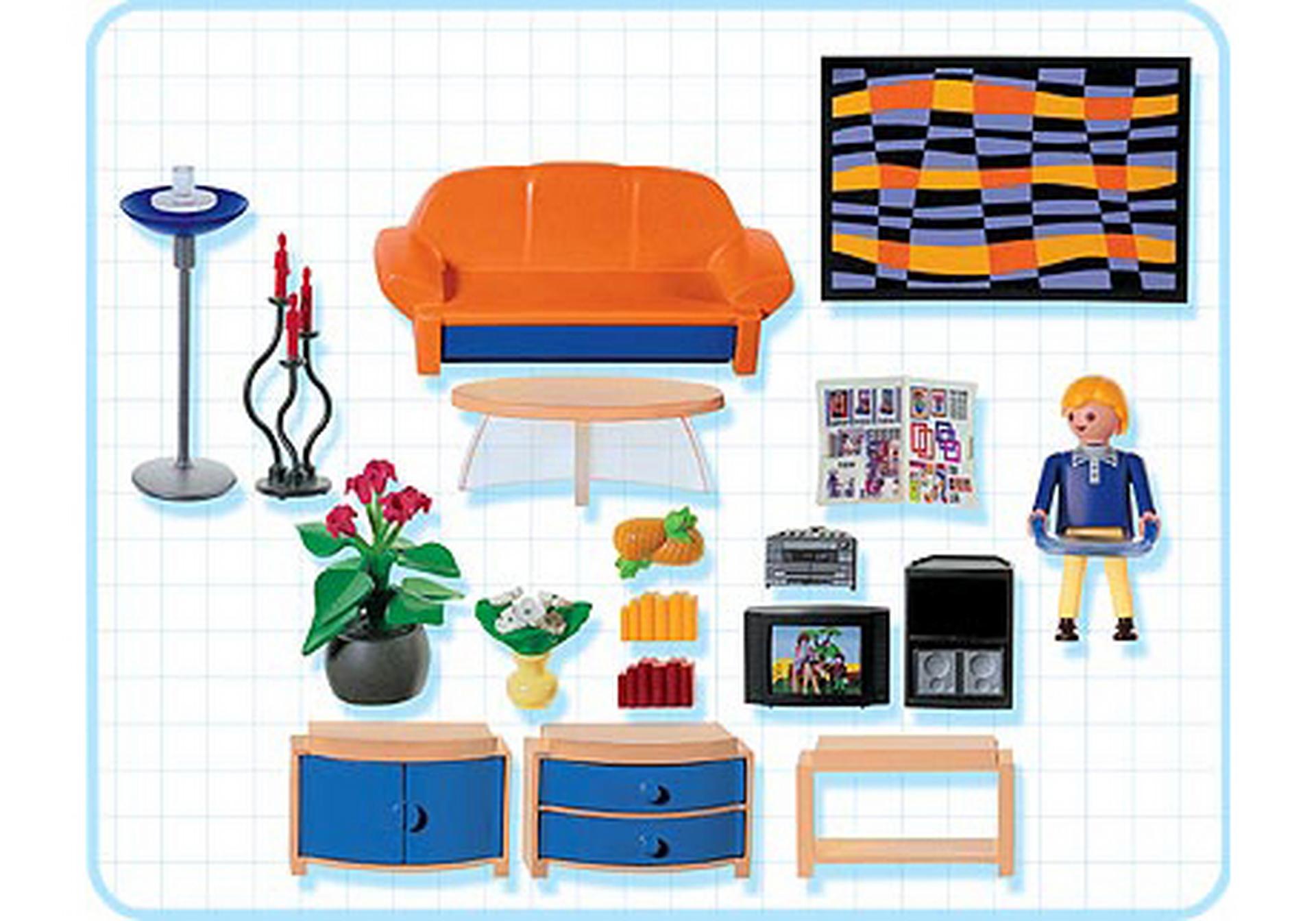 Modernes wohnzimmer 3966 a playmobil deutschland for Jugendzimmer playmobil