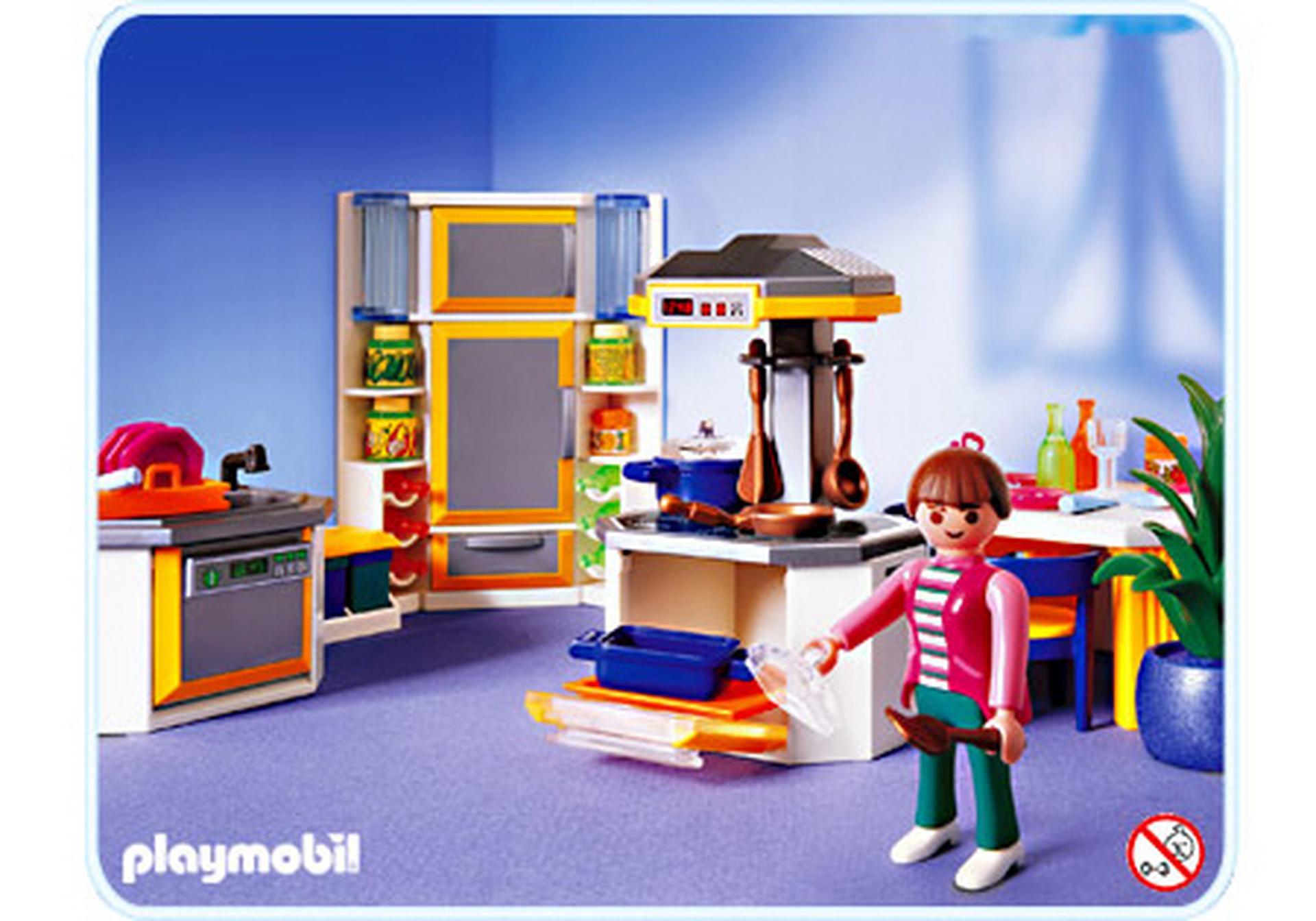 Emejing playmobil maison moderne cuisine photos seiunkel for Wohnzimmer playmobil