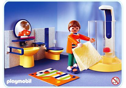 Salle de bains contemporaine - 3969-A - PLAYMOBIL® France