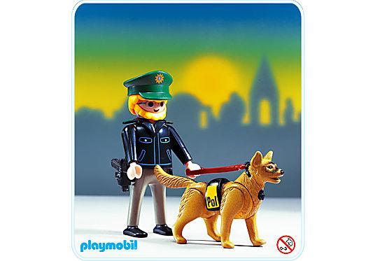 3984-A Polizist/Spürhund detail image 1