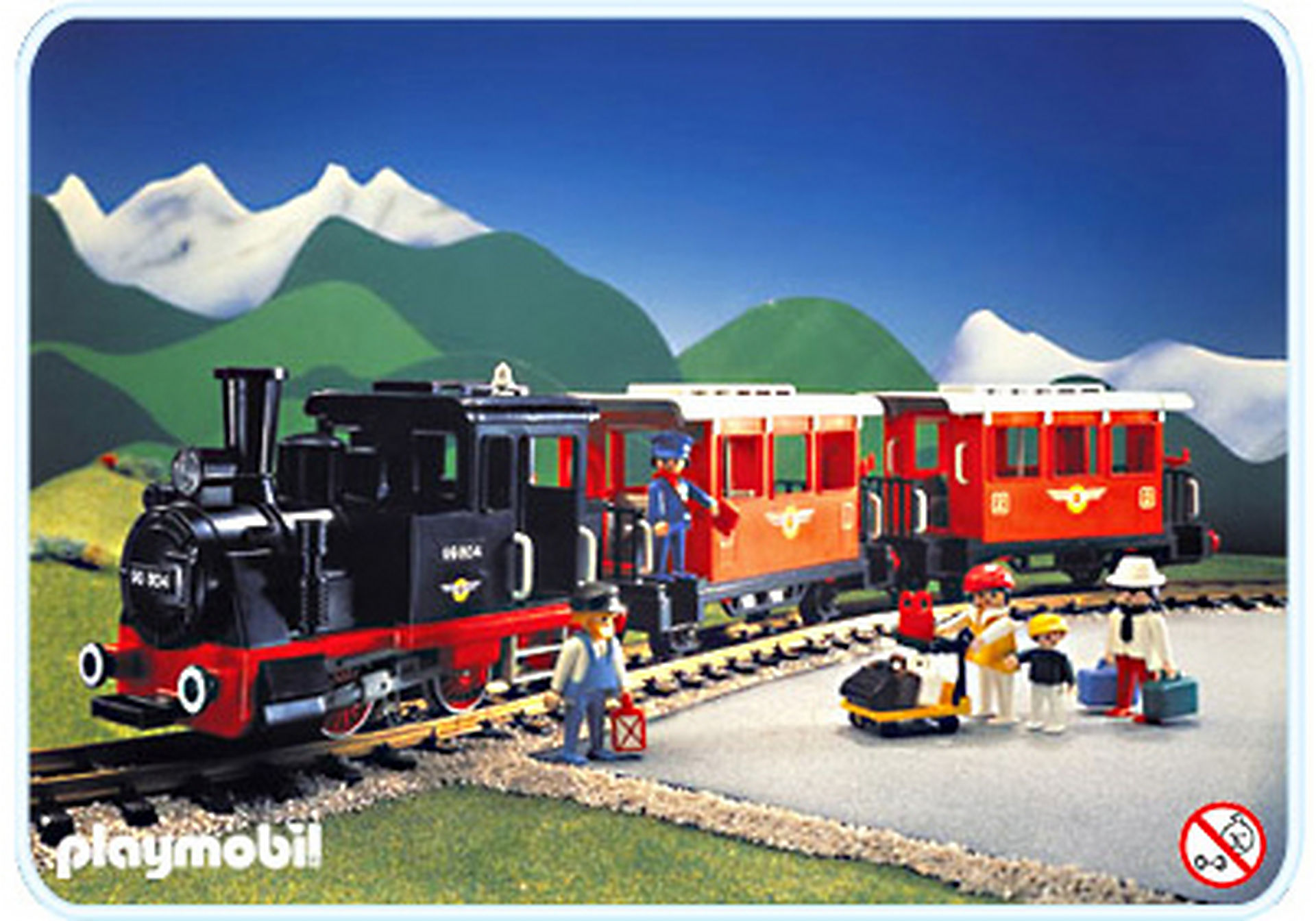 4001-A Personenzug-Set mit Dampflok zoom image1