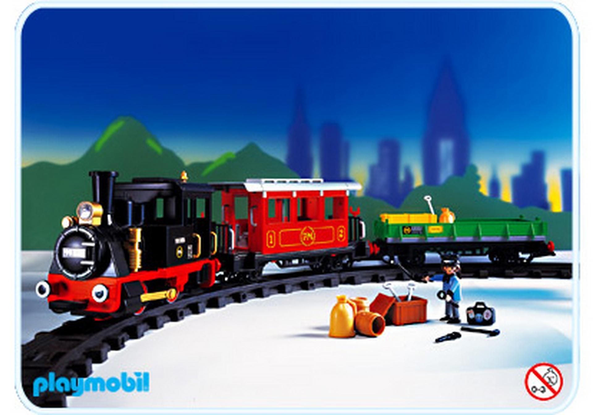 Train vapeur radiocommand 4017 a playmobil france - Train playmobil ...
