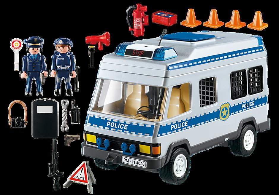 4023 Fourgon équipé et policiers detail image 3