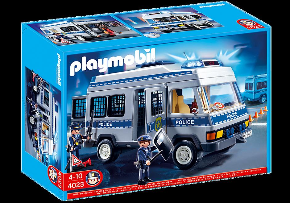 4023 Fourgon équipé et policiers detail image 2