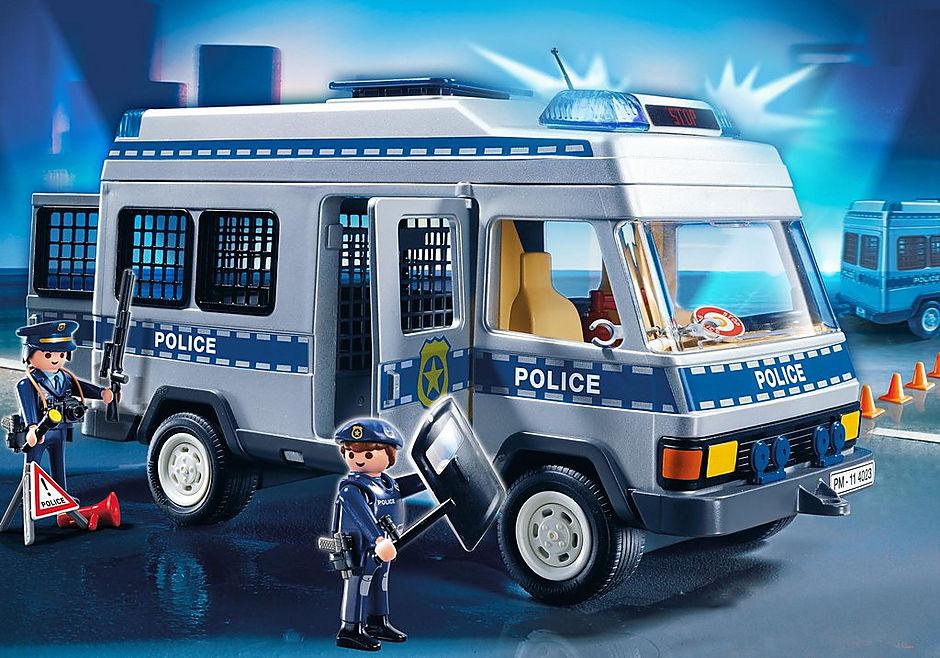 4023 Fourgon équipé et policiers detail image 1