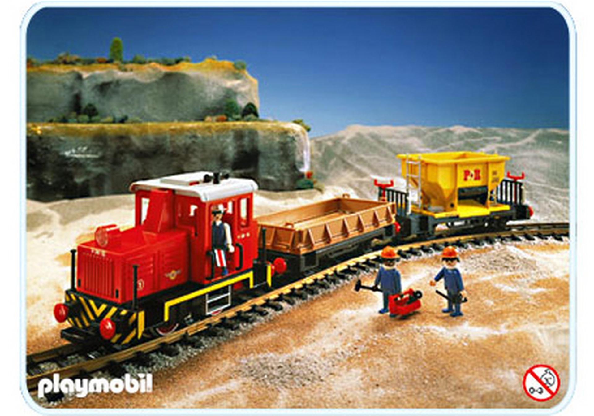 Train marchandises sans transformateur 4027 a - Train playmobil ...