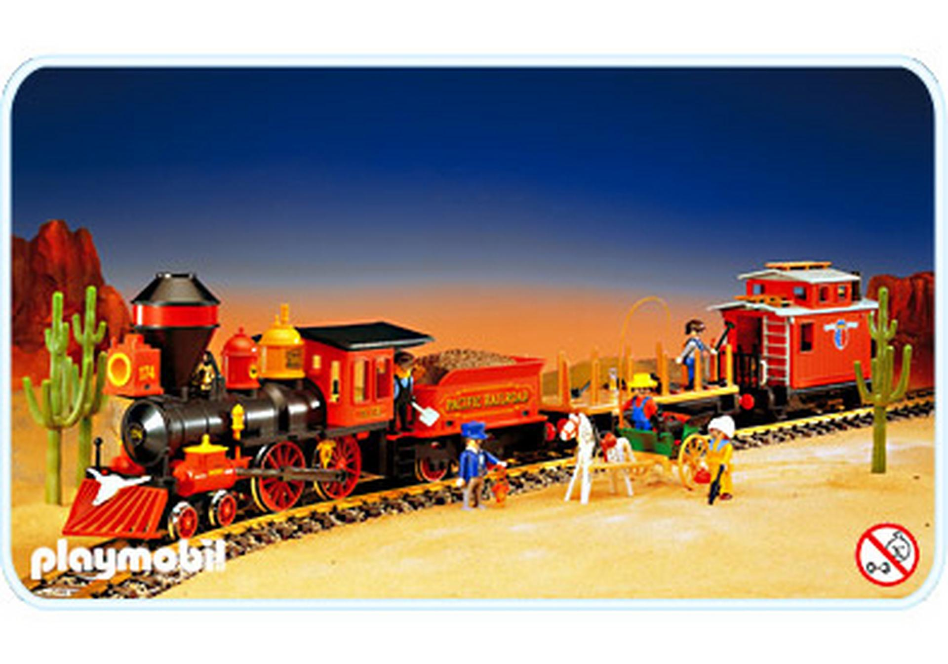 train far west sans transformateur 4034 a playmobil. Black Bedroom Furniture Sets. Home Design Ideas