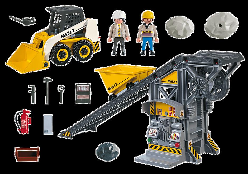 4041 Nastro trasportatore con mini scavatrice detail image 3