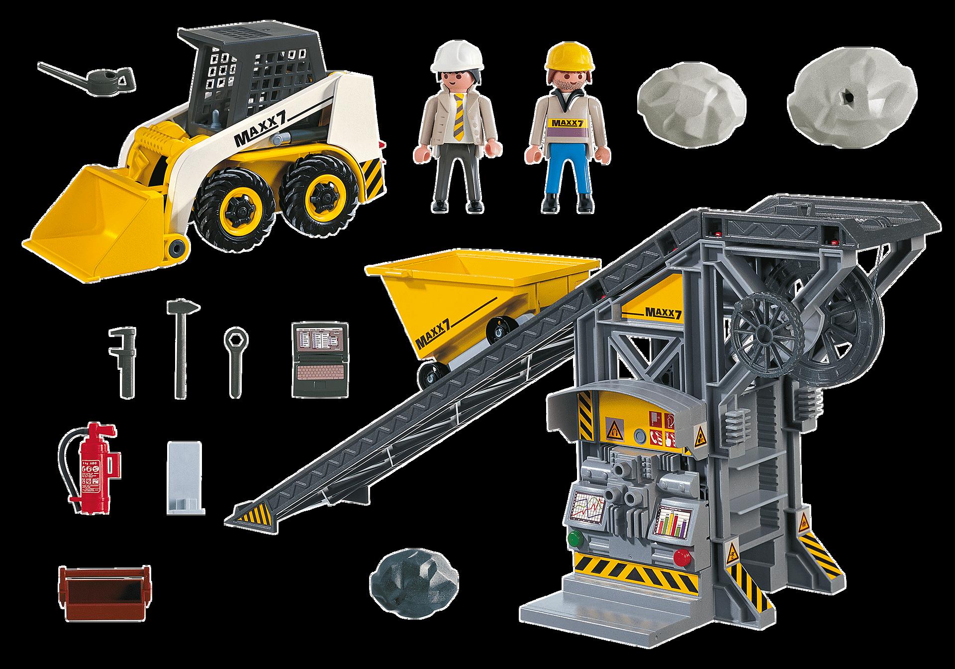 4041 Nastro trasportatore con mini scavatrice zoom image3