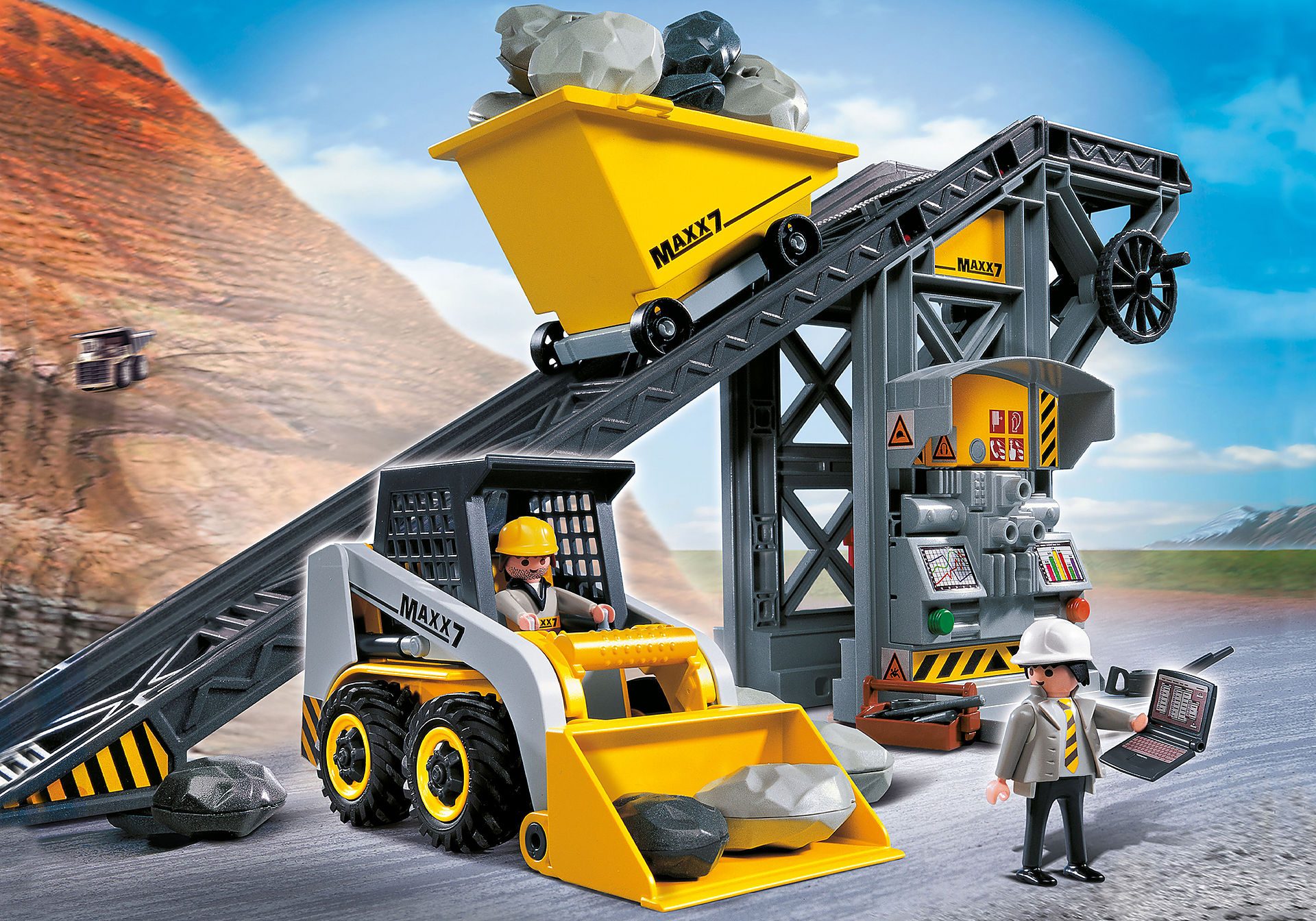 4041 Conveyor Belt with Mini Excavator zoom image1