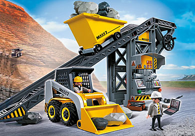 4041 Conveyor Belt with Mini Excavator