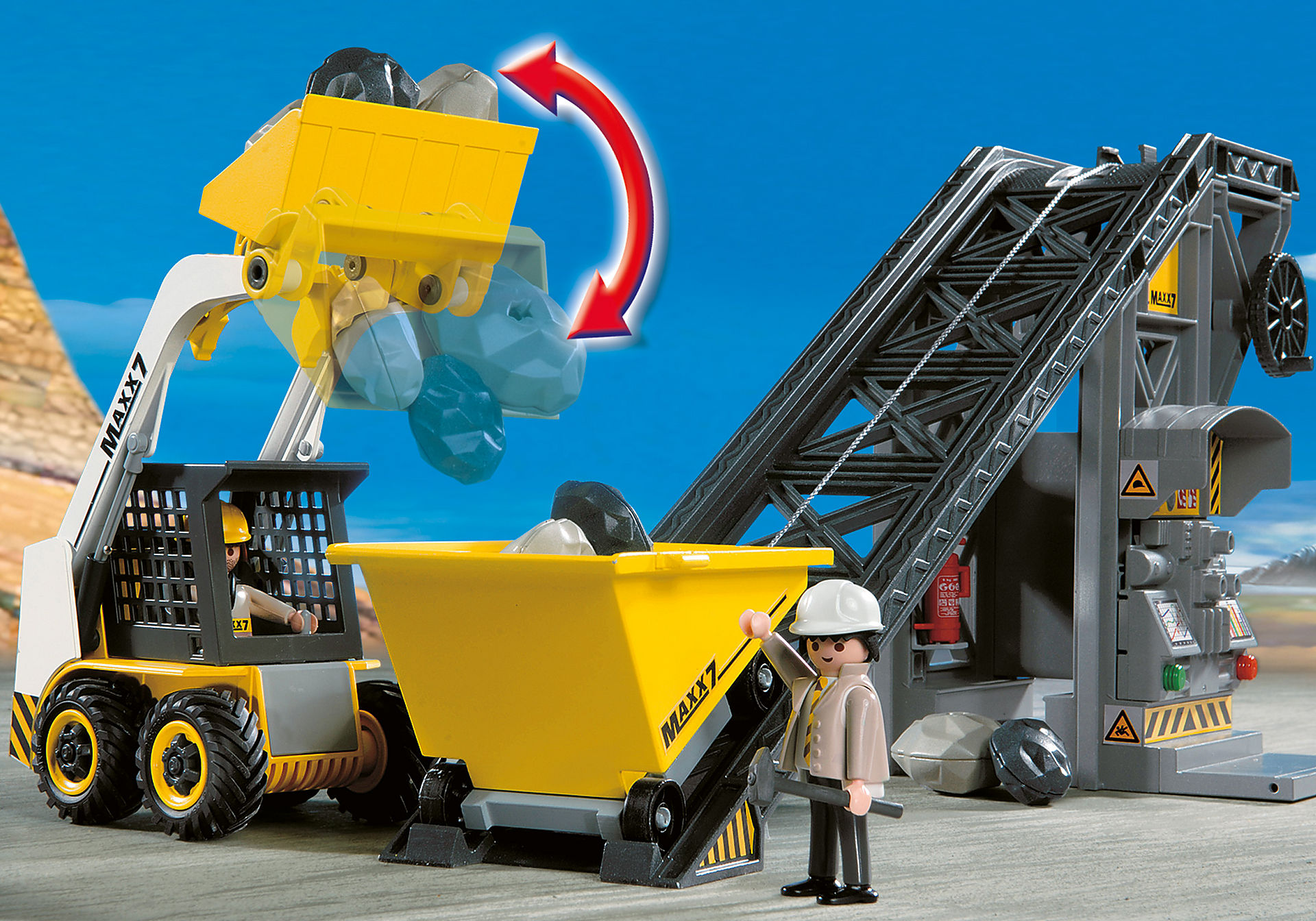 4041 Conveyor Belt with Mini Excavator zoom image5