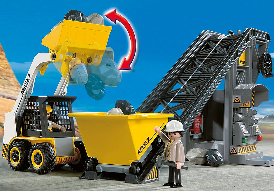 4041 Conveyor Belt with Mini Excavator detail image 5