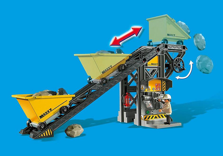 4041 Nastro trasportatore con mini scavatrice detail image 8