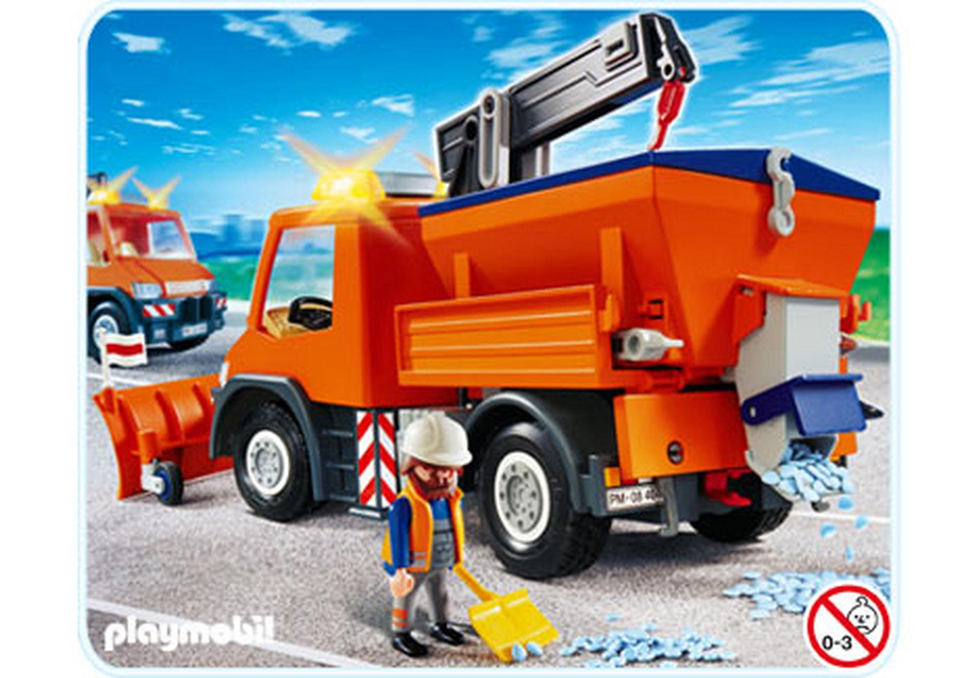 Chauffeur avec camion chasse neige 4046 a playmobil france - Playmobil camion ...