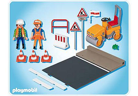 4048-A Straßenwalze mit Asphaltplatte detail image 2
