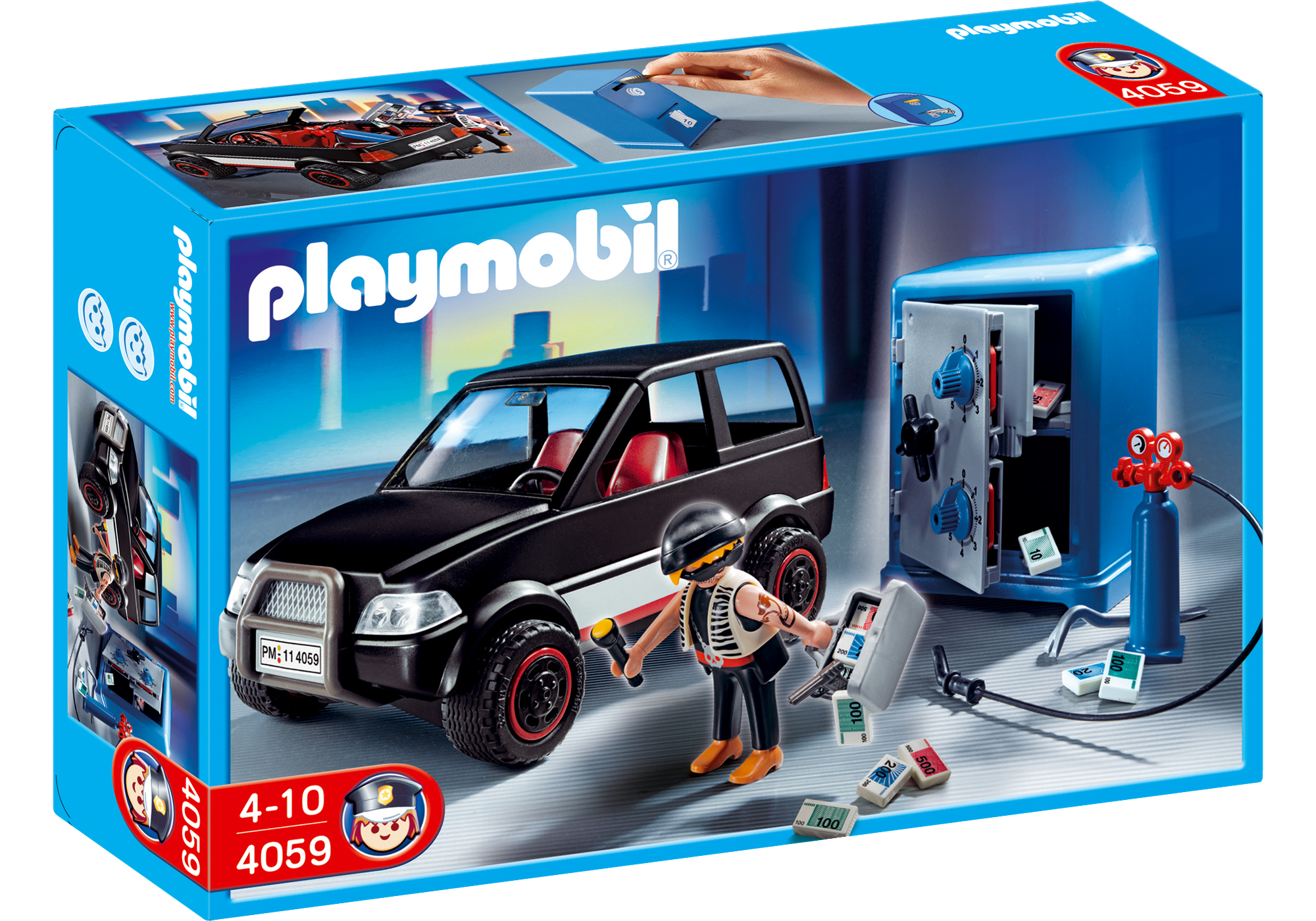 http://media.playmobil.com/i/playmobil/4059_product_box_front/Ladrão de Cofres com Carro de Fuga