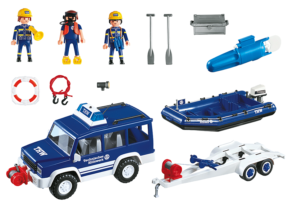 4087 Gommone di salvataggio e jeep detail image 3