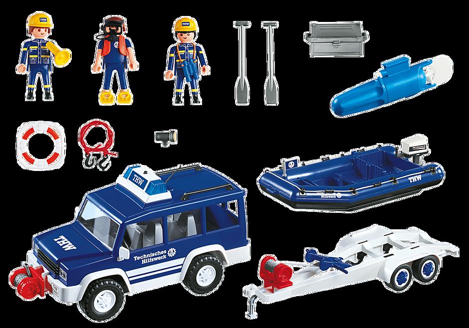 4087 Secouristes avec voiture et bateau detail image 3