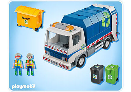 4129-A Recycling-Fahrzeug mit Blinklicht detail image 2