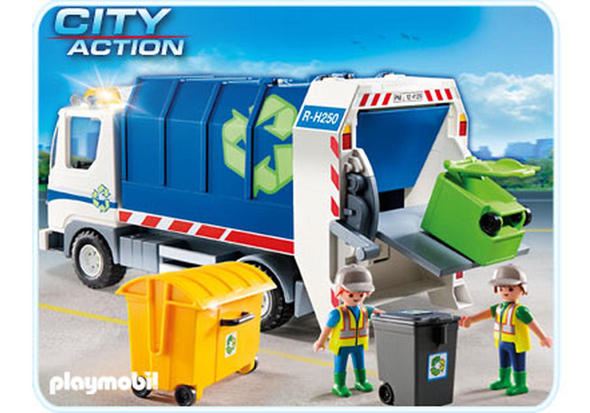 4129-A Recycling-Fahrzeug mit Blinklicht zoom image1