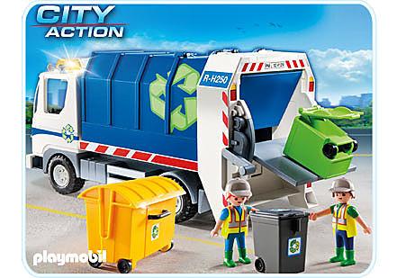 4129-A Recycling-Fahrzeug mit Blinklicht detail image 1