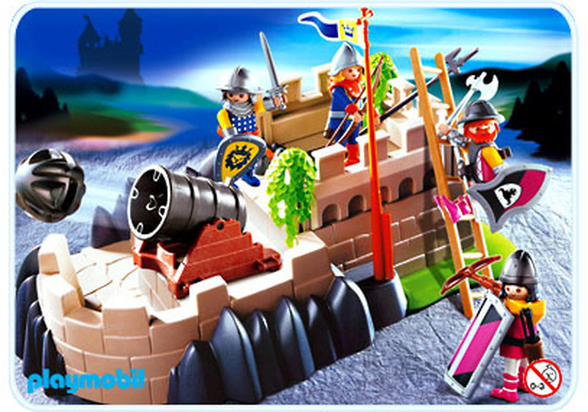 http://media.playmobil.com/i/playmobil/4133-A_product_detail/Superset chevaliers / tour de défense