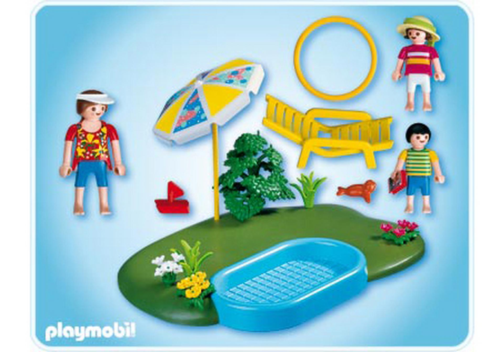 Compactset famille et piscine 4140 a playmobil france for Piscine de playmobil
