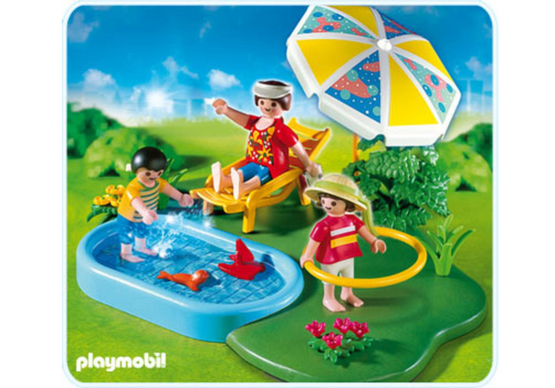 Compactset famille et piscine 4140 a playmobil france for Piscine play mobile